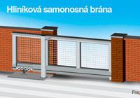 Portón autoportante modular de perfiles de aluminio
